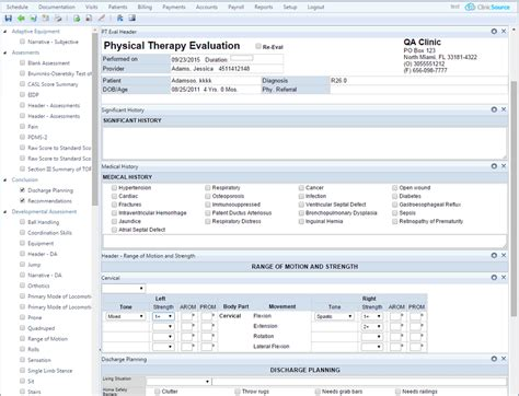 physical therapy evaluation physical therapy emr and practice management software