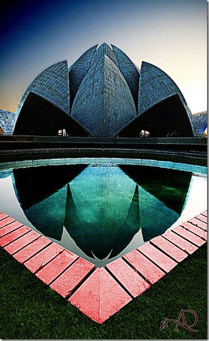 lines on lotus temple what are the most innovative unique and civil