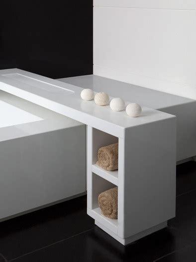 bathtub table tray caesarstone pure white bathroom ideas pinterest