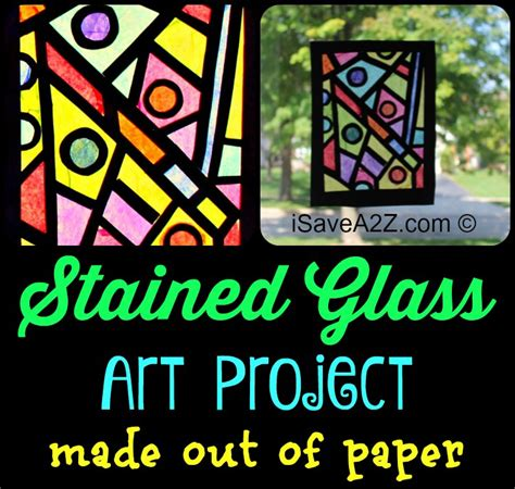 Stained Glass Paper Craft - paper craft idea how to make your stained glass window
