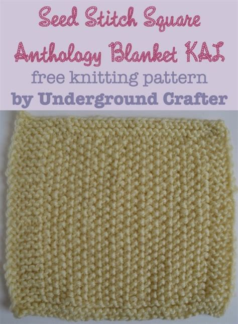 what is seed stitch knitting knitting pattern seed stitch square underground crafter