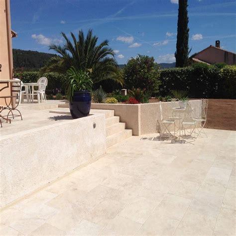 terrasse travertin carrelage en travertin beige 60 x 40 x 1 2 cm sol