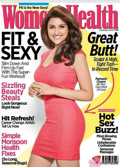 women magazine parineeti chopra women s health magazine august 2014