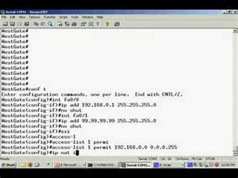 nat tutorial cisco router nat configuration on a cisco router youtube