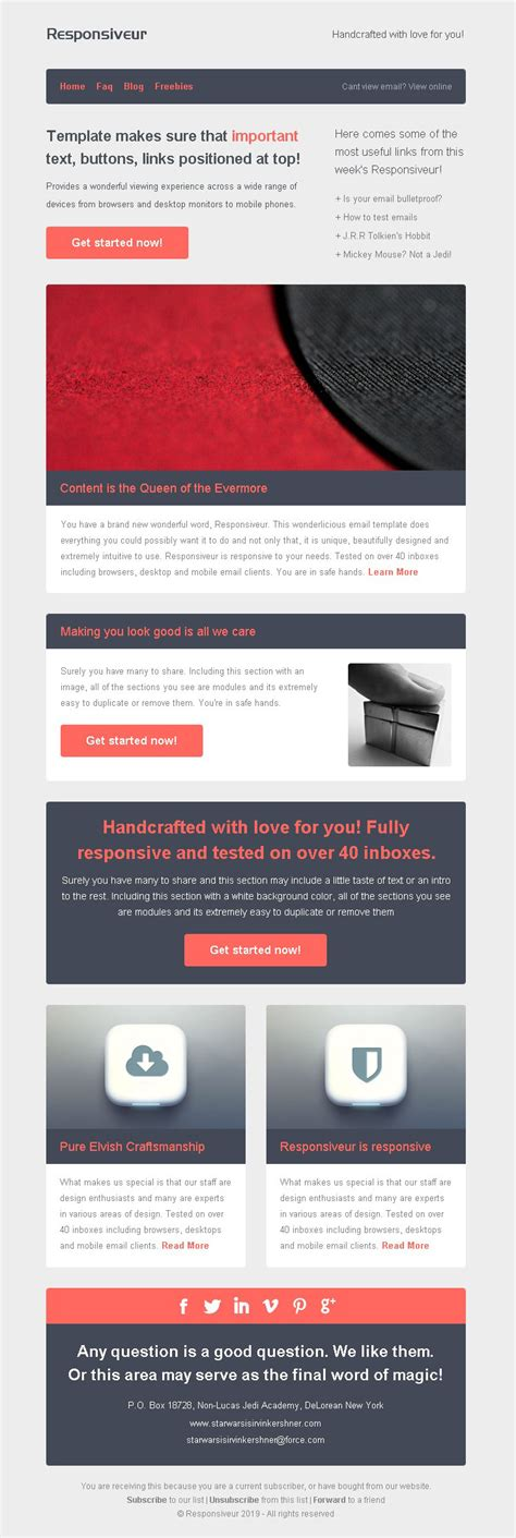 responsive email newsletter templates responsiveur responsive email newsletter templates by