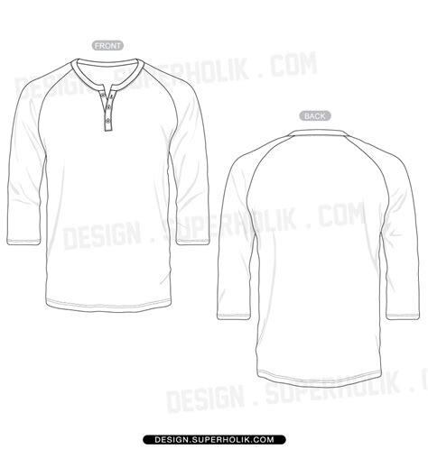 sleeve shirt template 3 4 sleeve hellovector