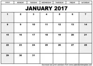 january calendar template january 2017 calendar ussui the knowledge forest