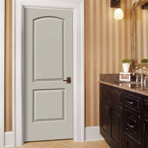 Pre Hung Hollow Door by Jeld Wen 30 In X 80 In Smooth 2 Panel Arch Top Solid