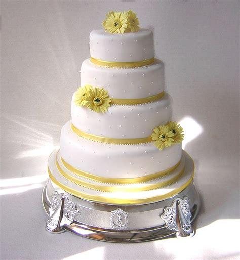 Wedding Cake Yellow by Hayling Island Cake Maker Julie S Creative Cakes
