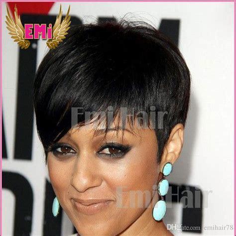 buy cheap new womens cut brazilian rihanna human hair wigs cut cheap black short