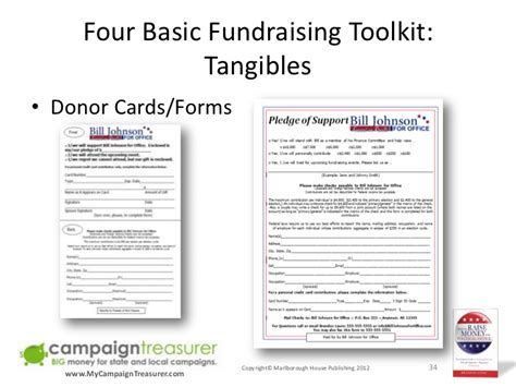 donation reply card template how to raise money for political office