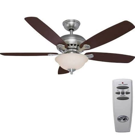 hton bay southwind 52 quot ceiling fan with light brushed