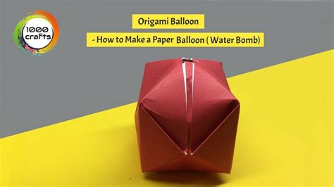 How To Make A Paper Blimp - origami balloon how to make a paper balloon water bomb