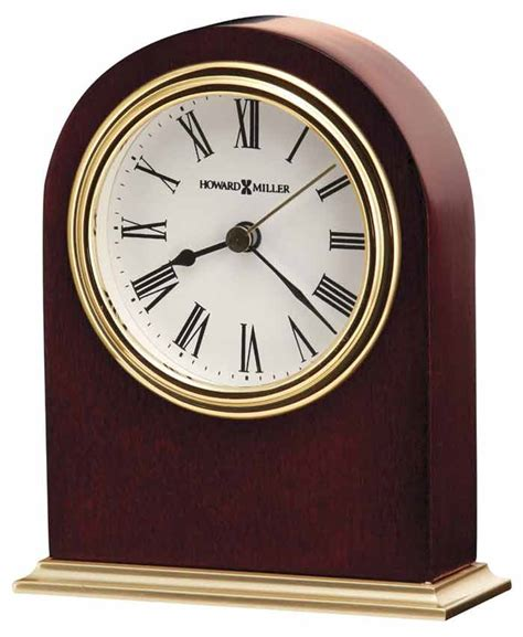 desk clock howard miller 645 401 craven cherry desk clock the clock