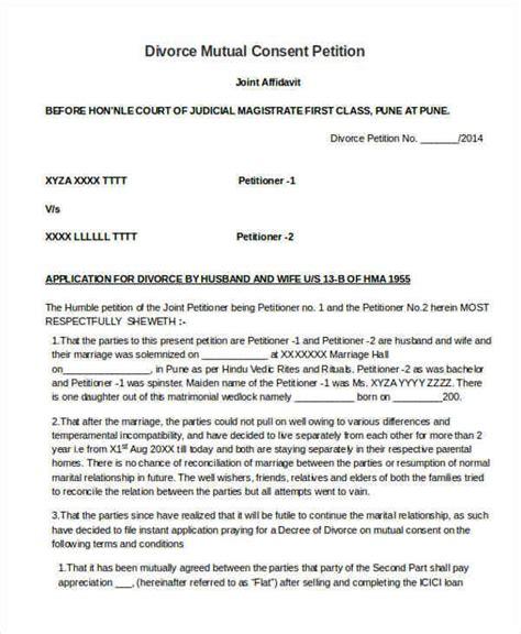 Divorce Petition Letter 30 sle petitions