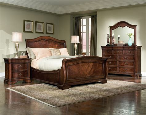 sleigh bedroom set wonderful cherry brown sleigh bedroom sets whtie bedding