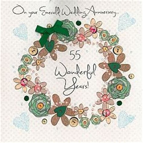 handmade emerald wedding anniversary card karenza paperie