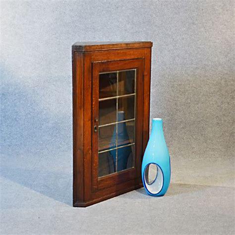 Oak Wall Display Cabinet by Antique Corner Cupboard Glazed Wall Display Cabinet