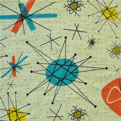 Mid Century Modern Upholstery Barkcloth Fabric For Cosplayers