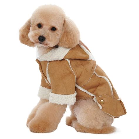 coat puppies cloth winter warmer suede fabric clothes winter warm clothing for dogs jacket