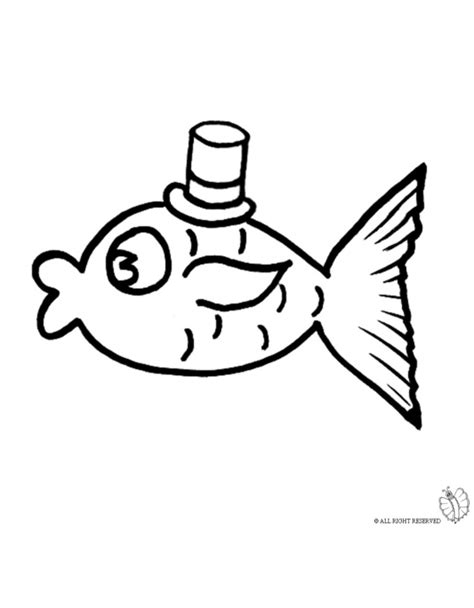 fishing hat coloring page coloring page of fish with hat for coloring for kids