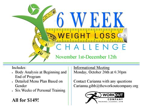 6 week weight loss challenge the workout company