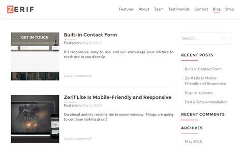 free wordpress themes zerif lite zerif lite theme review a completely free one page