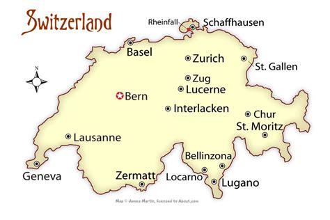 map of switzerland cities switzerland cities map and travel guide