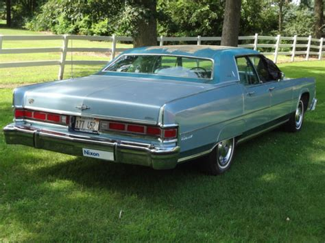 1974 lincoln continental for sale lincoln continental sedan 1974 blue for sale 4y82a877643