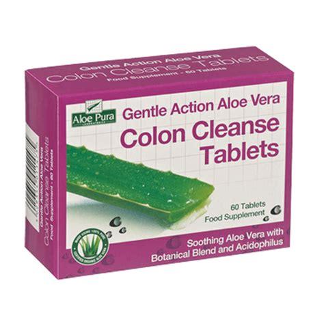 Detox Tablets And Barrett by Aloe Pura Gentle Aloe Vera Colon Cleanse Tablets