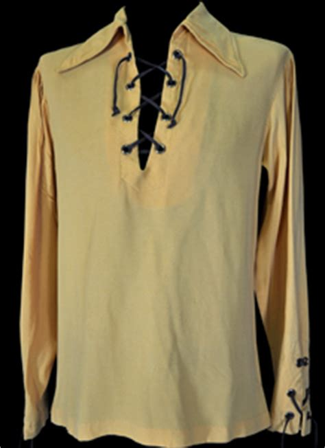 mens vintage clothing 1960 s gold lace up hippie shirt