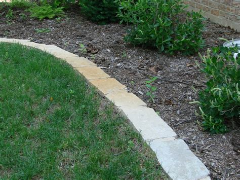 Garden Edging Stones by Landscape Mortared Edging Outside