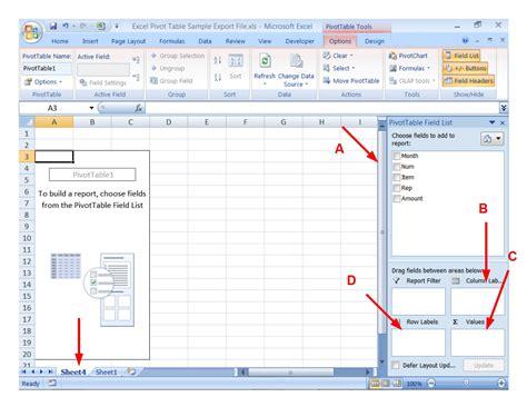 pivot table pivot table and pivot chart tutorial step 4 excel