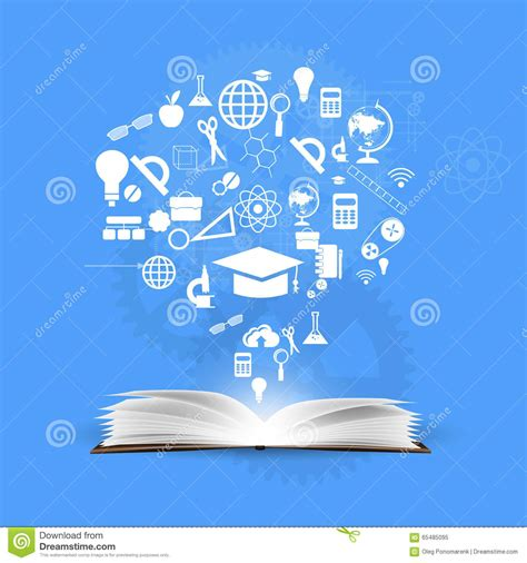 background knowledge design background knowledge from books stock illustration image