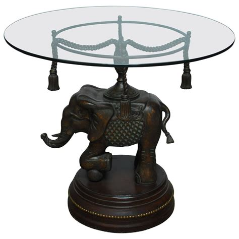 Elephant Side Table Bronze Elephant Pedestal Side Table For Sale At 1stdibs