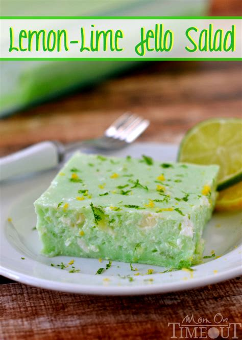 this delicious lemon lime jello salad is made with cottage