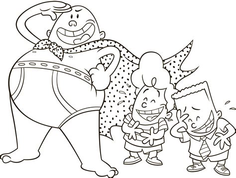 Captain Underpants The First Epic Movie Movie Night Fun Captain Underpants Coloring Pages