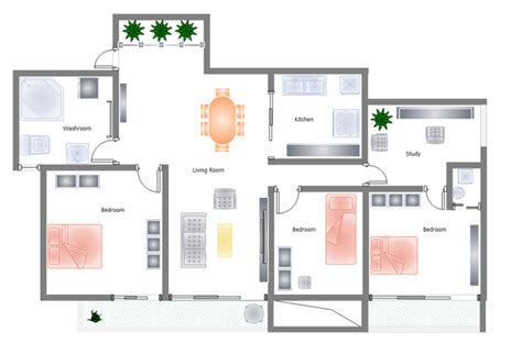 Formidable Plan Chambre A Coucher #1: 3-bed-floor-plan.png
