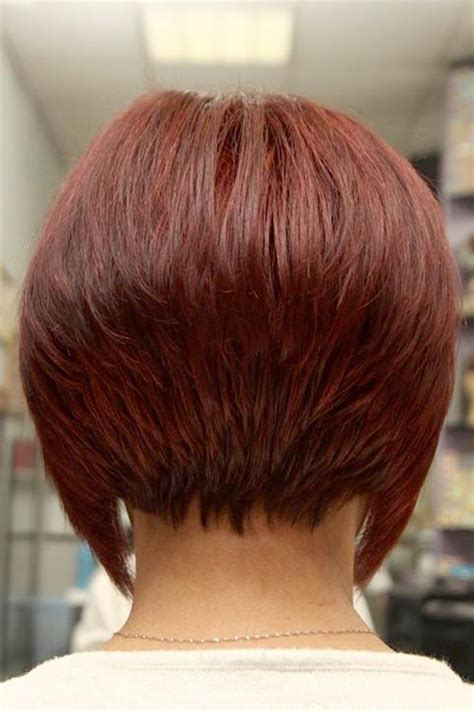pictures of the back of curly stacked hair the treatment of short bob hairstyles back view short