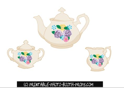 free printable tea party photo booth props 30 free printable london photo booth props