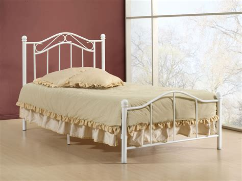 white wrought iron bed white polished wrought iron bed frame with headboard and