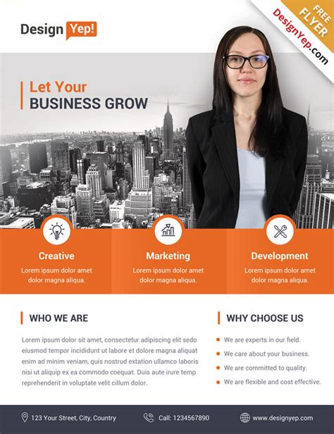 template flyer business 32 free business flyer templates psd for download designyep