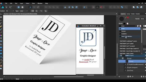 Affinity Designer Business Card Template Business Card Design With Affinity Designer Youtube