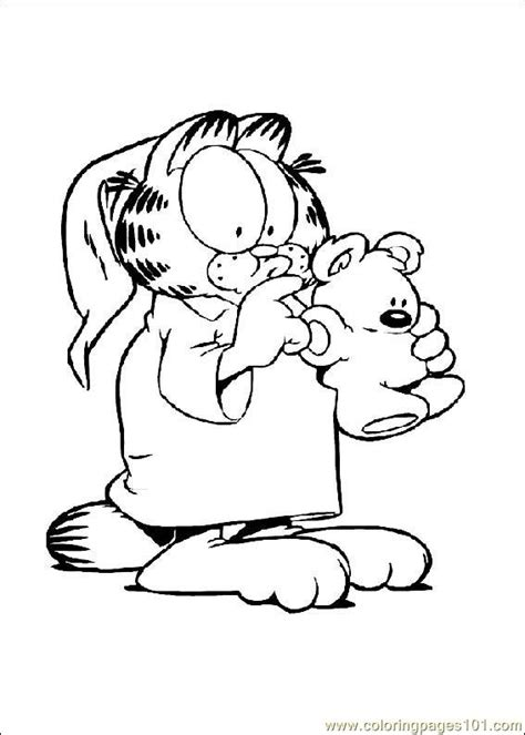 Garfield Coloring Pages Pdf | coloring pages garfield 04 cartoons gt garfield free