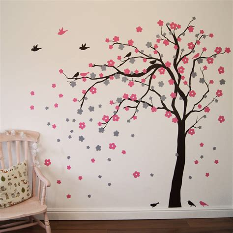 Woodland Wall Mural floral blossom tree wall stickers by parkins interiors