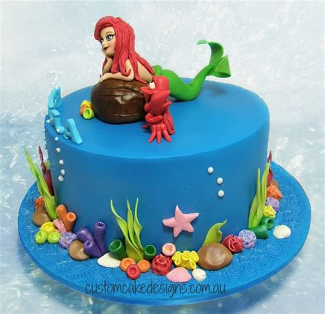 Ariel Cake Decorations by Ariel Mermaid Cake Cakecentral