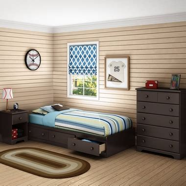 3 piece chocolate modern bedroom furniture collection twin size platform bed set ebay 3 piece bedroom set summer breeze twin mates bed 5