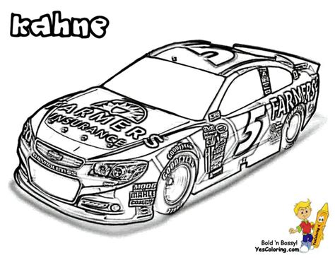 Mega Nascar Sports Car Coloring Day Kasey Kahne Come Nascar Coloring Page