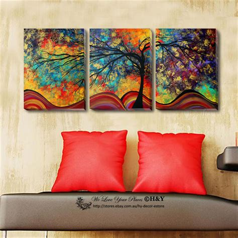 set   abstract tree stretched canvas prints framed wall