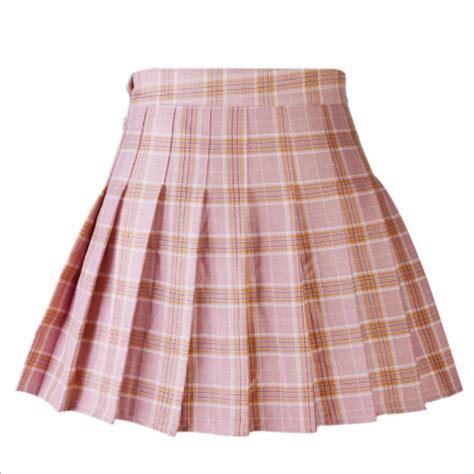A Line Plaid Skirt casual plaid skirt high waist pleated skirt a